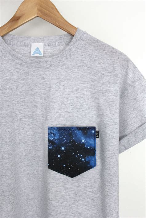 Galaxy Pocket T Shirt by Andclothing And Galaxy Pocket