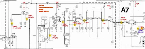 electrolytic capacitor pinout tandberg tr 2025 schematic pre section recap electrolytic capacitor replacement by