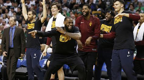 lebron james bench lebron james thankful cavs finally paid attention to