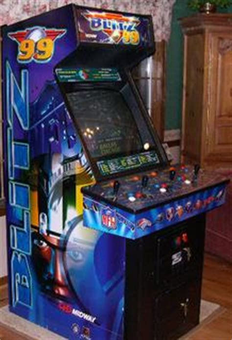 Nfl Blitz Arcade Cabinet by Nfl Blitz 99 Videogame By Midway