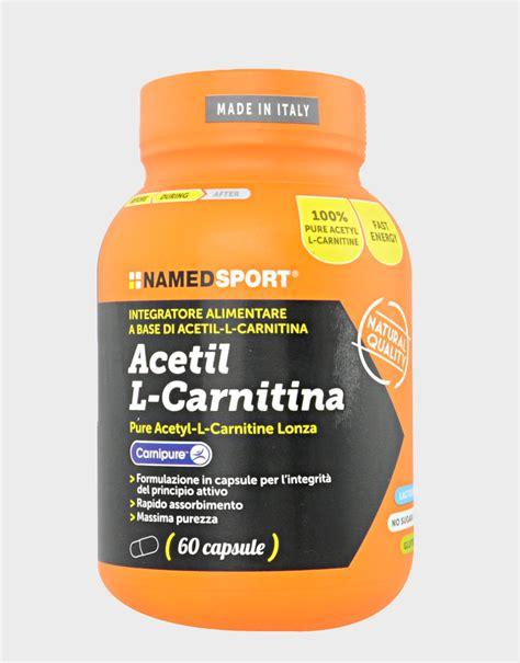 carnitina alimenti acetil l carnitina di named sport 60 capsule 25 19