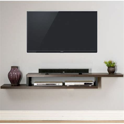 ascend 72 quot asymmetrical wall mounted tv component shelf