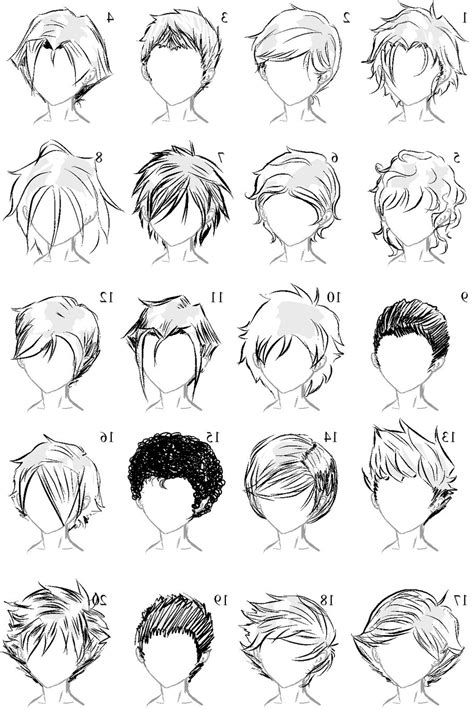Anime Boy Hair by Hairstyles Drawing Hairstyles By Unixcode