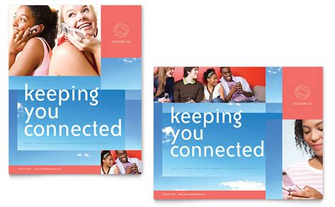 communications company poster template word publisher