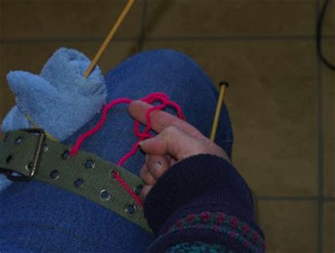 set up knitting knitting one handed set up for one handed knitting