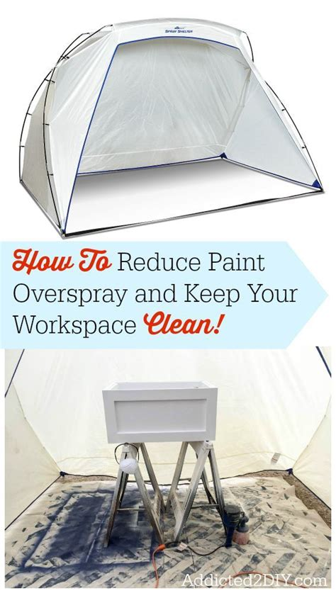 how to keep spray paint how to reduce paint overspray and keep your workspace