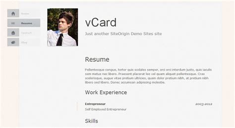 theme wordpress vcard 26 simple beautiful single page wordpress themes hongkiat