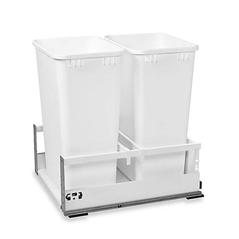 15 inch trash cabinet rev a shelf 174 18 inch double tandem pull out waste