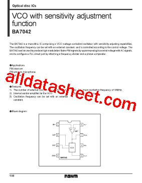 bipolar integrated circuit with photodetection function ba7042 datasheet pdf rohm