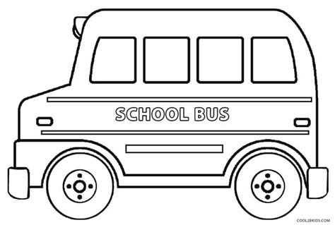 bus coloring pages preschool bus printable coloring pages