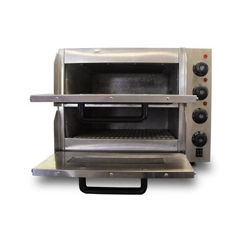 secondhand catering equipment electric ovens small twin pizza oven ref rhc1707