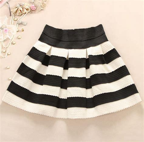 black and white striped skirt black and white striped waist tutu skirt a 091205 on luulla