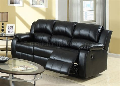 Black Leather Sofa Recliner 7260 Reclining Sofa In Black Bonded Leather W Optional Items