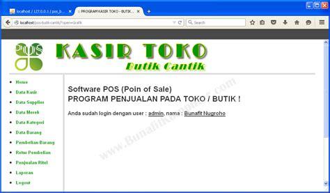 membuat menu utama web dengan php contoh aplikasi penjualan menggunakan php bunafit komputer