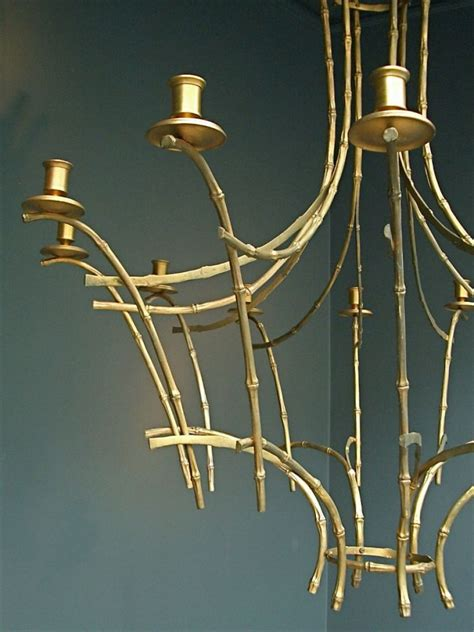 Bamboo Chandelier Faux Bamboo Chandelier Stock Decorative Antiques Decorative Objects Vintage Design