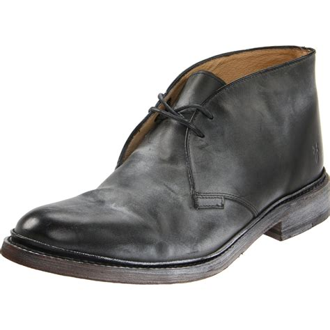 mens boots frye frye chukka boot in black for lyst