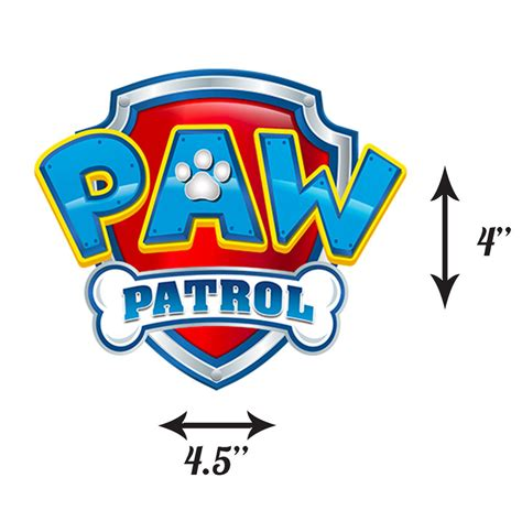 Paw Patrol Edible Icing Logo Large Cake Topper Ebay Paw Patrol Logo Template