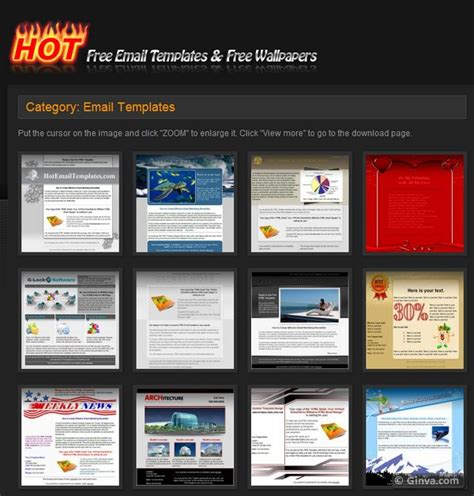 free template for html search results for february newsletter template
