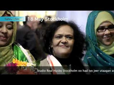 sahra ahmed jama sahra ahmed in stockholm may 2012 youtube