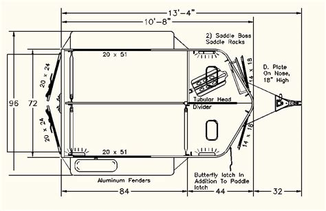 straight floor plan bumper pull straight load townsmand two horse trailers