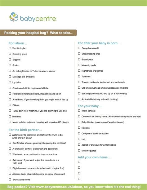C Section Hospital Bag Checklist by Packing For The Hospital C Section Dbxkurdistan
