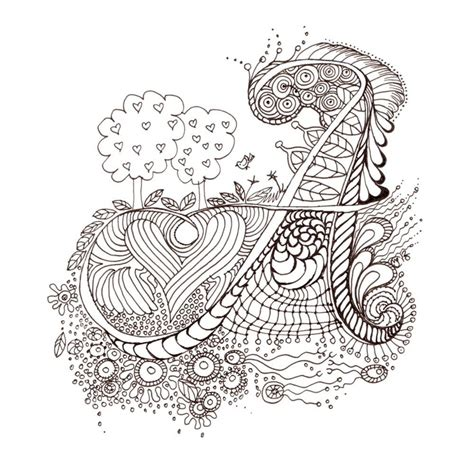 printable zentangle alphabet monogram a initial colour me in illuminated letters