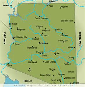 show me a map of arizona map of arizona cities