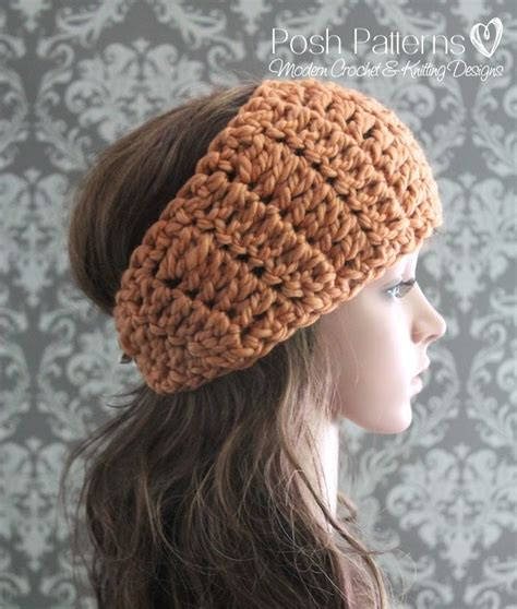 free pattern headband crochet posh patterns easy crochet patterns and knitting patterns