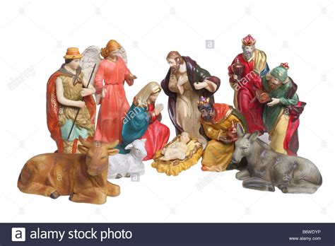 figure nativity nativity figures cutout isolated on white background