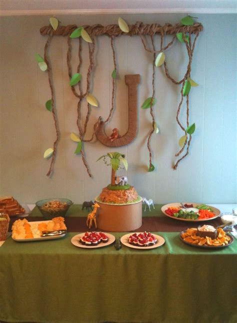 baby shower decorations jungle theme best 25 safari table decorations ideas on