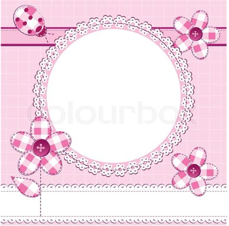 Kartu Ucapan Terima Kasih 061 a greeting card in scrapbook style with photo frame for a baby day or