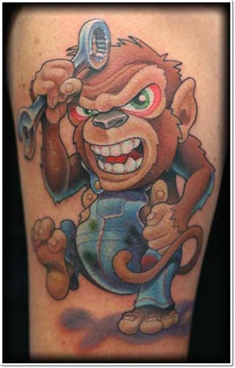 monkey tattoo design 30 cool and monkey designs