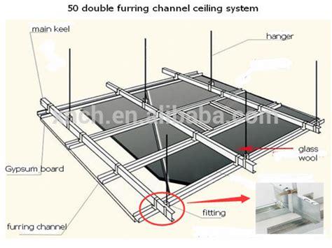 Harga Aluminium U Channel galvanized false steel ceiling sections c channel buy