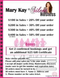 mary kay 174 silent hostess flyer qt office 174 blog free