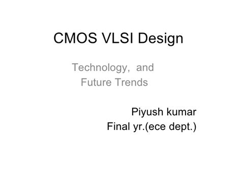 cmos layout design techniques cmos vlsi design