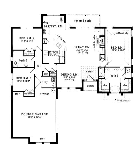 european style house plan 3 beds 2 baths 2000 sq ft plan european style house plan 3 beds 2 baths 1762 sq ft plan