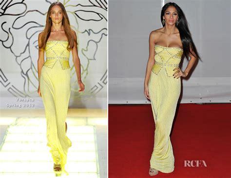 Catwalk To Carpet Scherzinger by Scherzinger In Versace 2012 Brit Awards