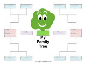 Family Tree Blank Outline by Family Tree Template Family Tree Template