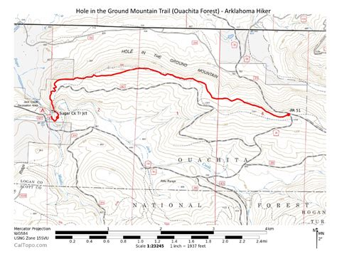 ouachita national forest map in the ground mtn trail ouachita forest 7 mi o b