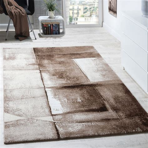 teppich beige designer carpet modern rug chequered trendy mottled in