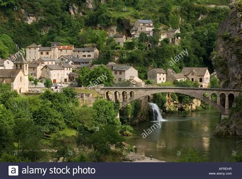 Saint Chely du Tarn Gorges du Tarn Cevennes area of France Stock Photo, Royalty Free Image