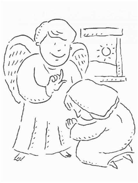 free coloring pages angel and mary 1000 images about historias biblicas on pinterest