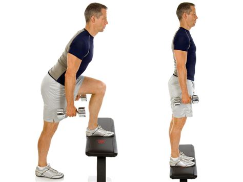 weighted step up on bench weight lifting plan strength level 2 a