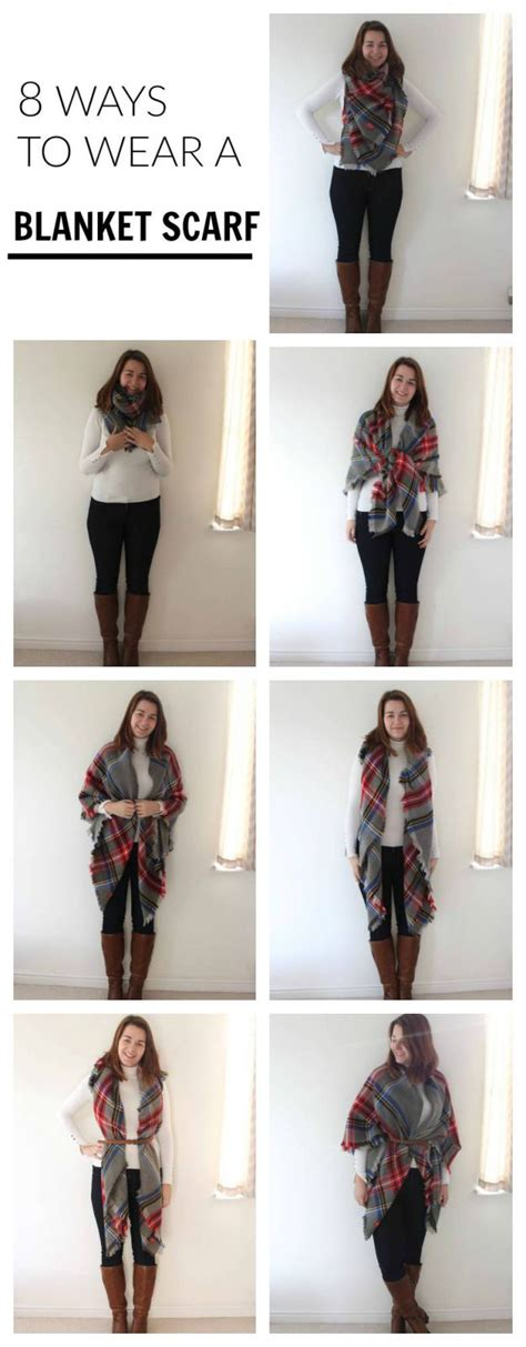 8 Cool Ways To Wear A Scarf by 8 Ways To Wear A Blanket Scarf Rebel