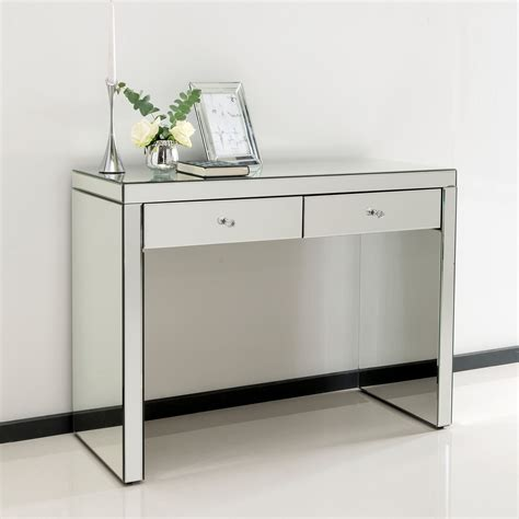 Mirror Console Table Romano Mirrored Console Table Venetian Mirrored Furniture