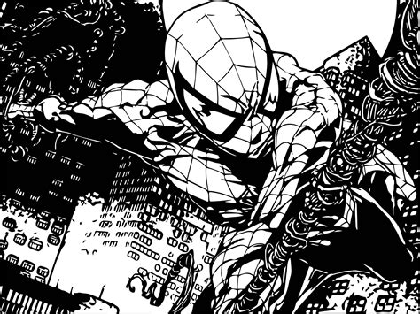 spider man comic coloring page spider man comics coloring page wecoloringpage