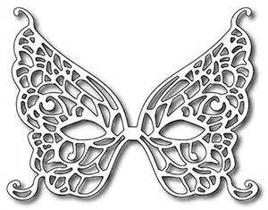 frantic stamper precision die butterfly mardi gras mask