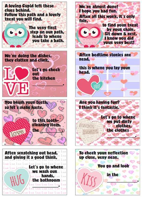 valentines scavenger hunt clues free printable s day treasure hunt 24 clues