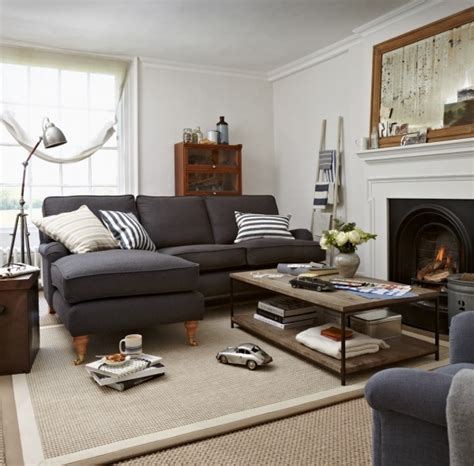 living room with gray sofa blue sofa with chaise lounge eclectic living room sofa