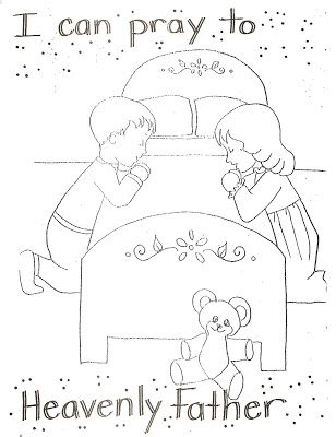 lds coloring pages heavenly father lds nursery printables can pray to heavenly father